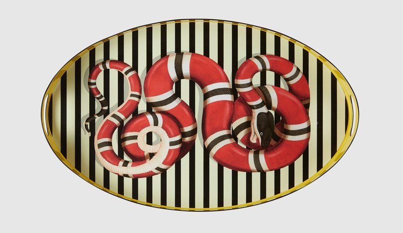 Gucci-kingsnake-oval-metal-tray