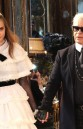 Chanel Metiers d'Art Collection 2014/15 Paris-Salzburg KArl Lagerfeld and Cara Delevingne