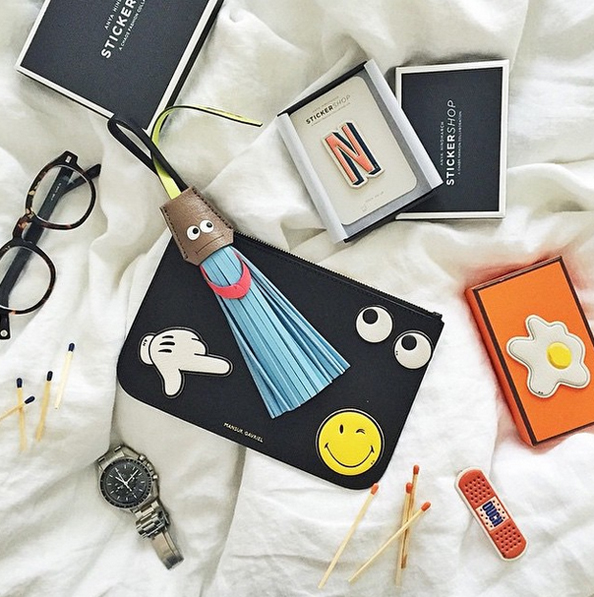 anya hindmarch opens pop up sticker shop at boutique 1