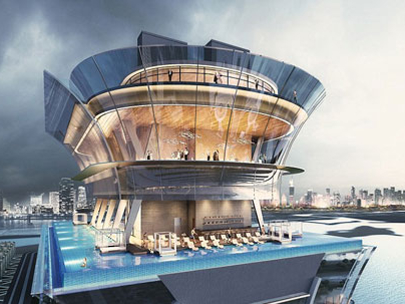 St regis dubai pool is world 39 s highest emirates woman for Tallest swimming pool in the world