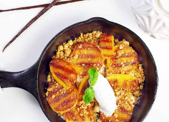 Grilled Peach Crumble: A Dessert And One Of Your Five-A-Day By Staff ...