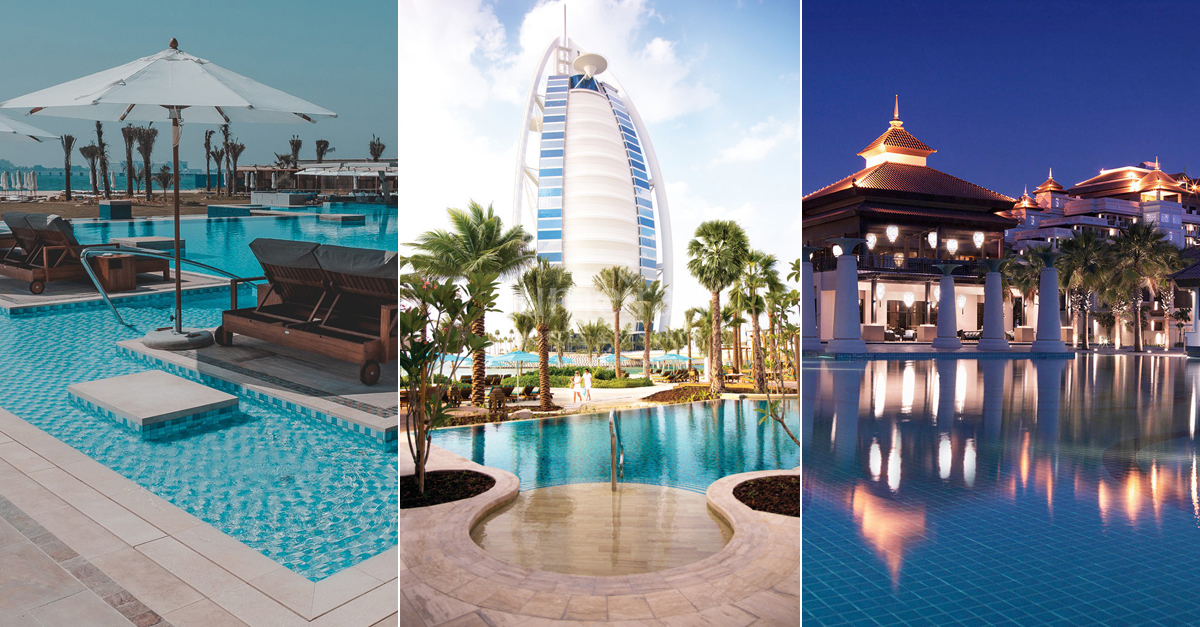 10 of the best beach clubs and hotel pools in dubai for Top 10 hotels in dubai