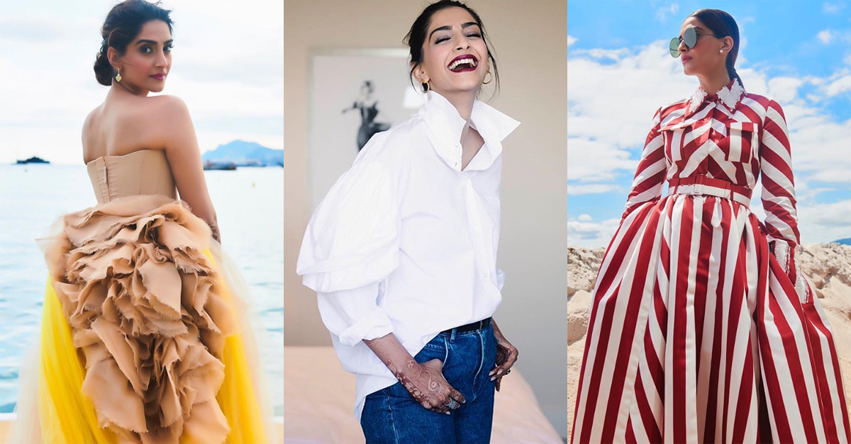 Sonam Kapoor's Cannes wardrobe is incredible from jeans to ball gowns