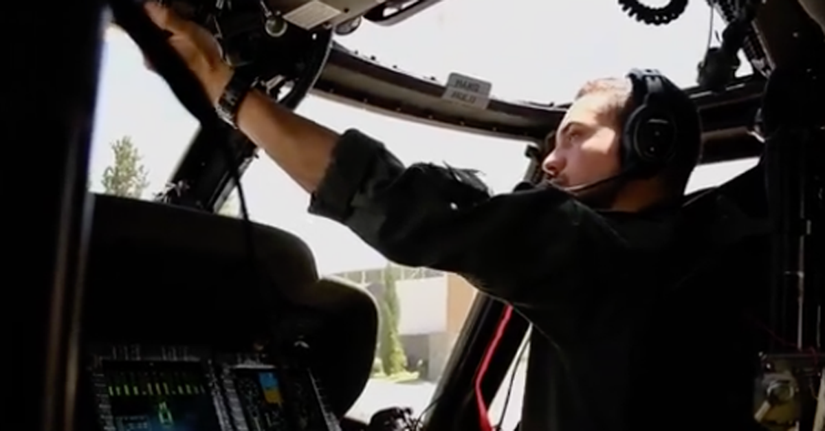 WATCH: Jordan's Crown Prince Hussein pilots a helicopter