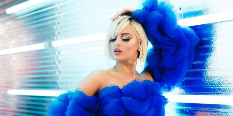 Bebe Rexha stunned in a gown by a Bahraini designer for the 61st Grammy Awards