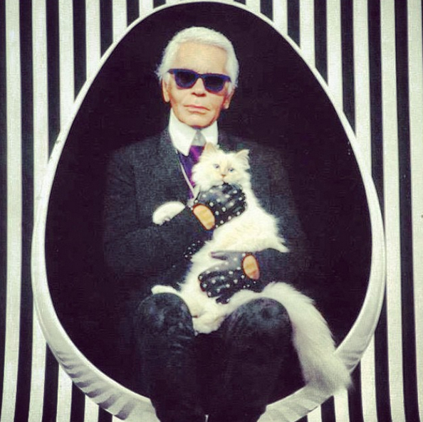 Choupette and karl lagerfled
