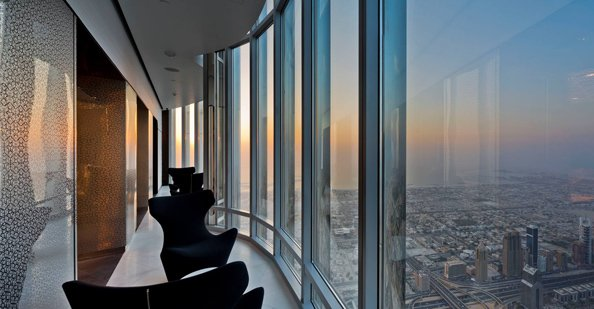 A section of the SKY lounge observation deck on level 148.
