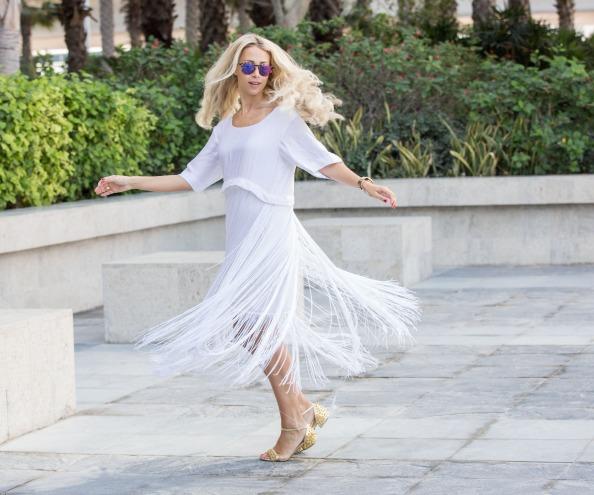 Olivia Phillips wearing Bedouin