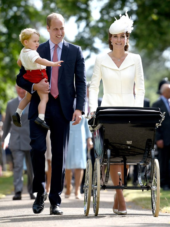 Princess Charlotte, Prince George, Kate Middleton, Prince William