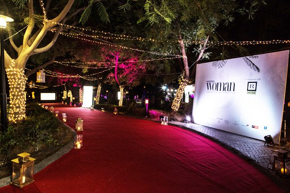 Guests were snapped on the red carpet before heading down to the lawn for pre-dinner drinks