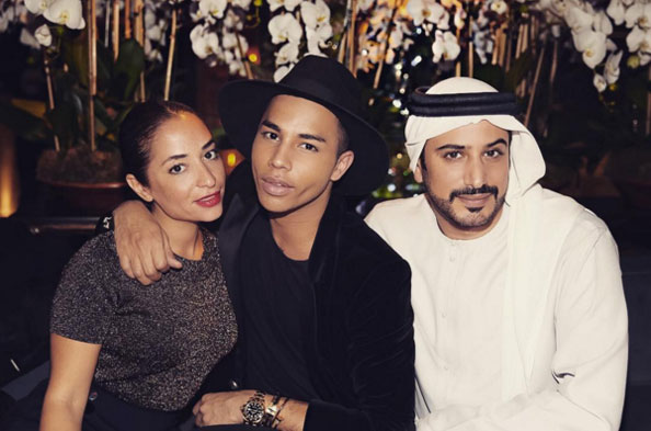 Olivier Rousteing in Dubai and Abu Dhabi