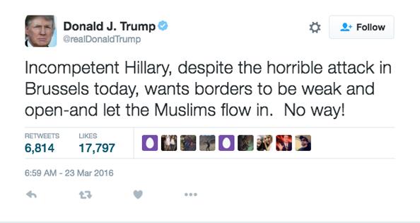 donald trump brussels muslims