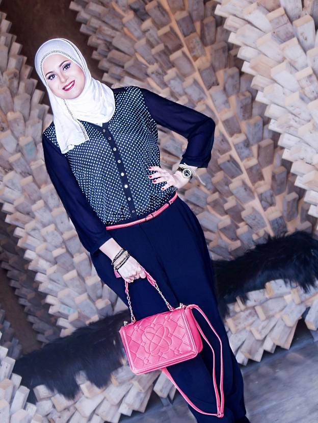 Style blogger Wafa Yahya