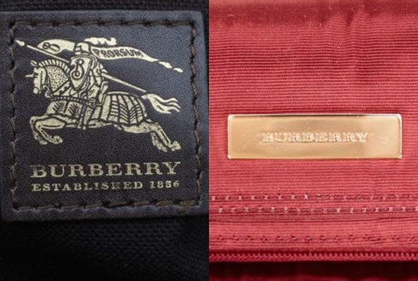 burberry bag labels
