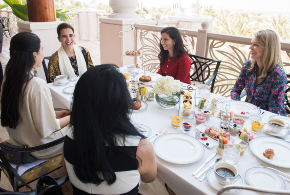 HRH Princess Haya during the intimate breakfast.