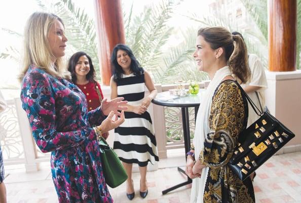 HRH Princess Haya with Emirates Woman's Lyndsey Steven.