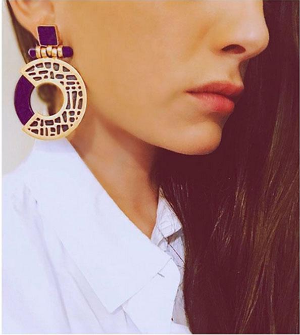 dior knocker earrings - Dalia N Souli