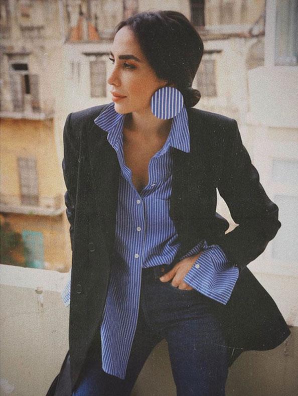 dior knocker earrings - Dana Hourani