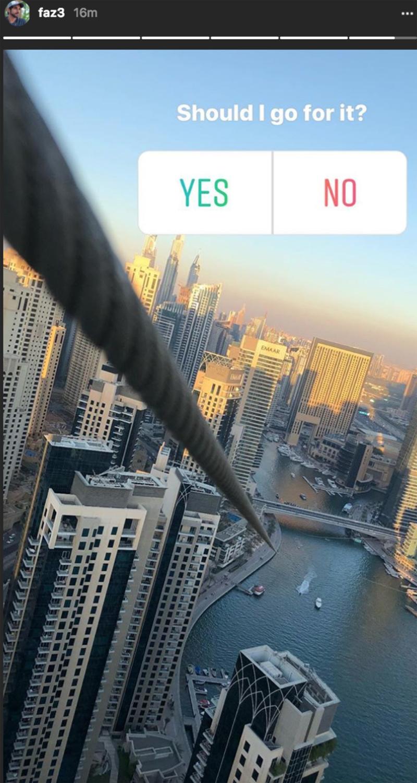 Sheikh Hamdan Gave The New Dubai Marina Zip Line A Test Drive