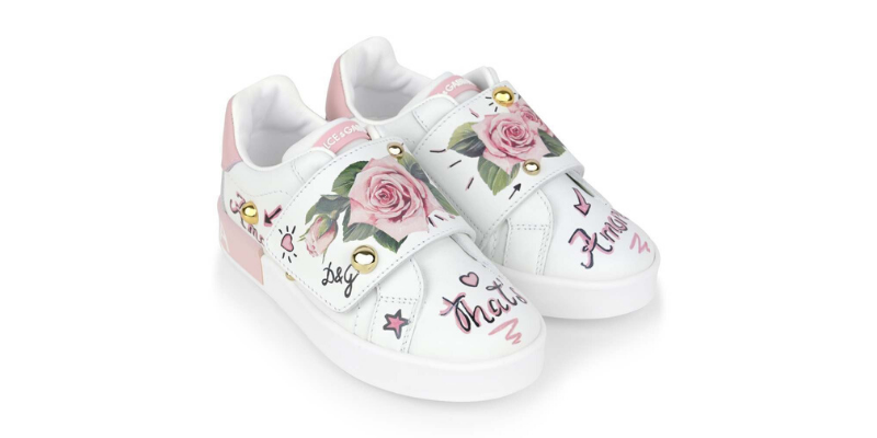 Dolce and gabbana floral sneakers