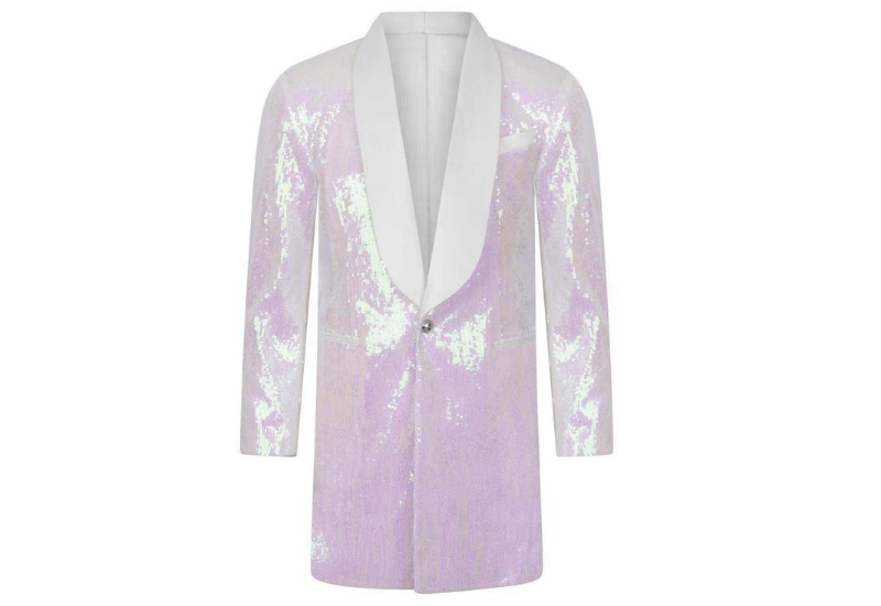Balmain Girls White Sequinned Blazer