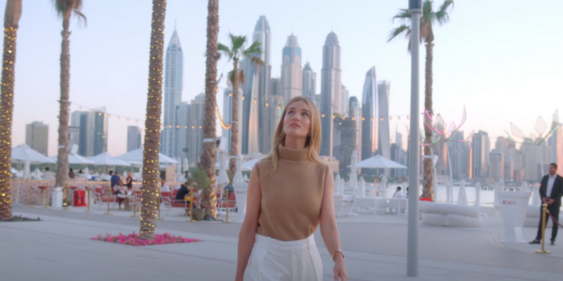 Dubai leads as the backdrop for Rosie Huntington-Whiteley's new beauty series