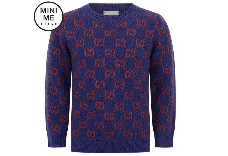 Gucci Boys Purple Wool GG Jumper