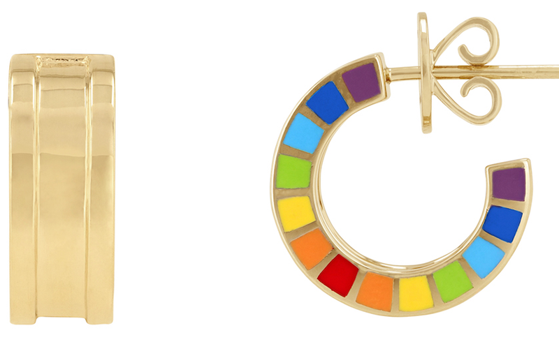 Aisha Baker dubai jewellery rainbow colourful trend