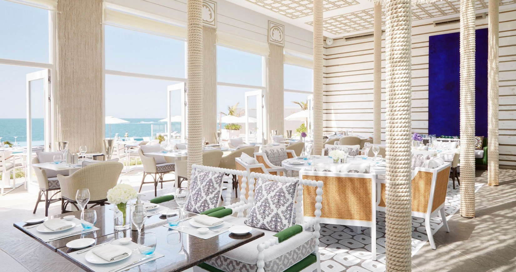 The new luxury restaurant with pool access at the Burj Al Arab