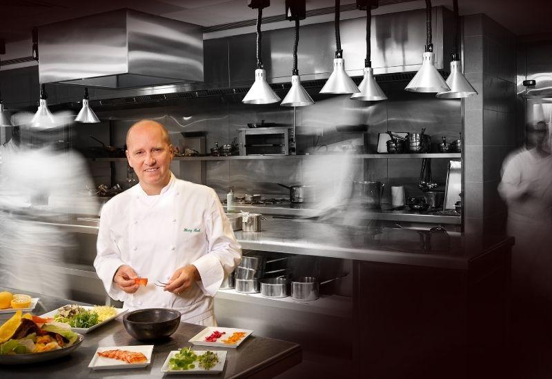 Chef Heinz Beck Kitchen