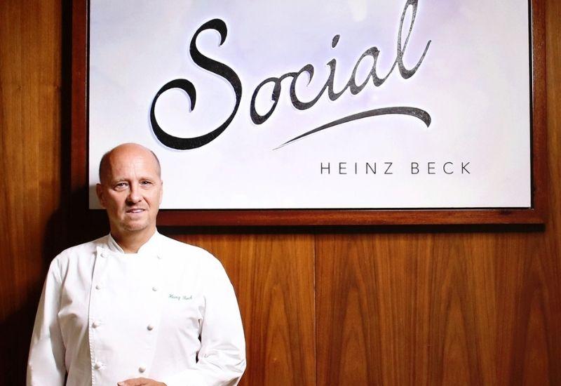 Chef Heinz Beck entrance
