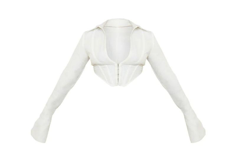 White Corset Top x PLT