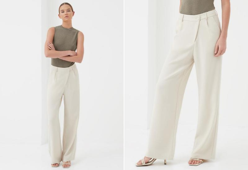Archer Asymmetric trouser cream