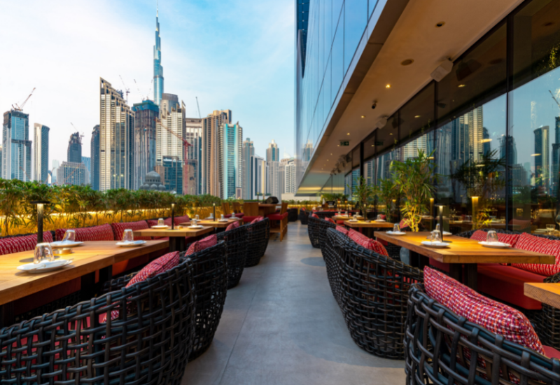 Roka Dubai terrace
